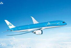 Letadlo letecké společnosti KLM na cestě do Mexika