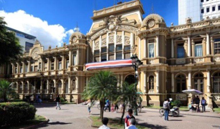 Kostarika den 1 Historické náměstí centrum San Jose